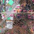 Damage Map: Software färbt zerstörte Häuser rot ein (Foto: Galanis et al.)